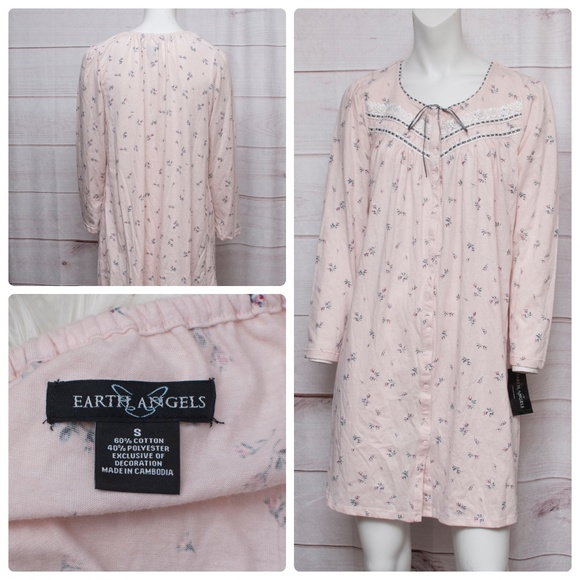 b3ac0e9e41 Heavenly Angels Small Pink Floral Nightgown NWT